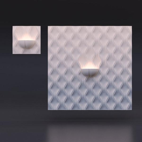 Гипсовый светильник - Радуга
