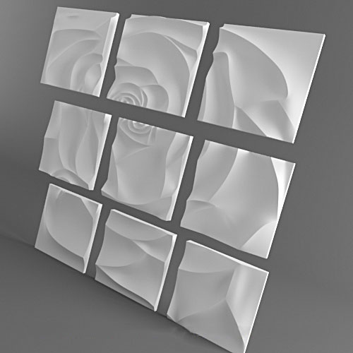 3D Панно - Роза(1500 х 1500)