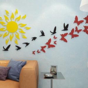 3D Панно Стая птиц