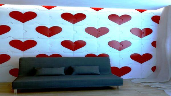 Сердце 3 Д пазл
