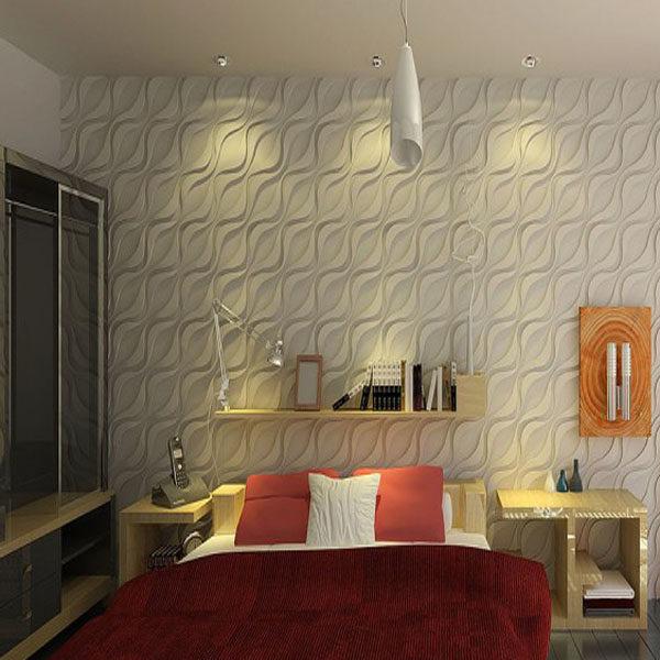 3д панель уст в интерьере спальни